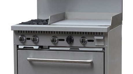 "2 Burner 24"" Flat Top with oven"