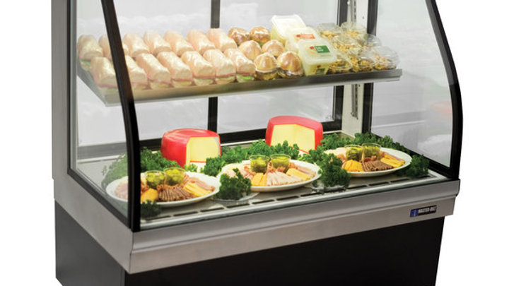 "Master-Bilt CGD-50 50"" Curved Glass Refrigerated Deli Display Case - 20.8 Cu. Ft"