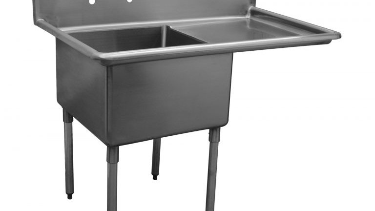 Serv-Ware D1CWP1620R-18 - Economy Sink, 1 compartment, 12 deep bowls