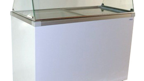 13.6 cu. ft. Flat Glass Top Sliding Lid Display Chest Freezer (CDC-52