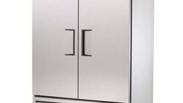"True T-49F-HC 54.13"" Two Section Reach-In Freezer, (2) Solid Doors, 115v"