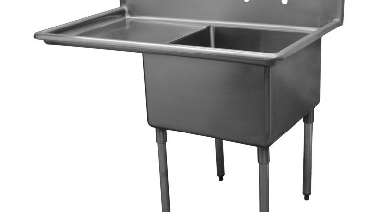 "Serv-Ware D1CWP1620L-18 - 36.5"" Economy Sink, 1 Compartment"