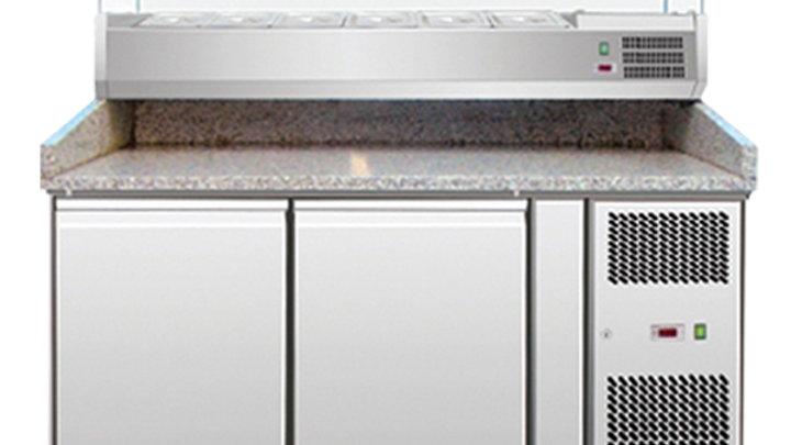 Omcan 39592 Granite Top Pizza Prep Table