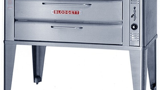 Blodgett 911P Natural Gas Compact Single Pizza Deck Oven with Draft Diverter - 2