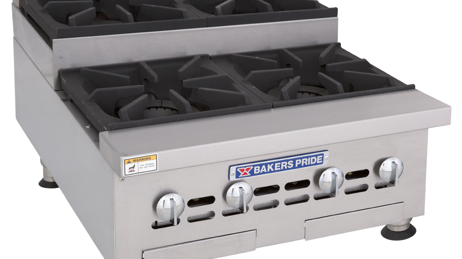 "Bakers Pride BPHHPS-424I Hotplate, gas, 24"", countertop, (2) 30,000 BTU open bur"