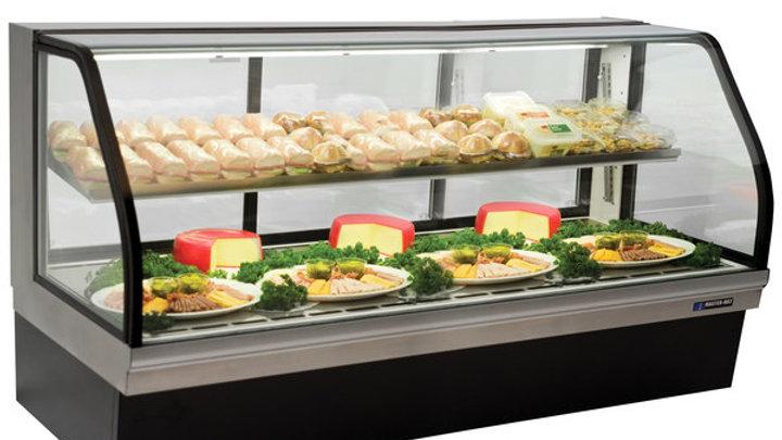 "Master-Bilt CGD-77 77"" Curved Glass Refrigerated Deli Display Case - 32 Cu. Ft"