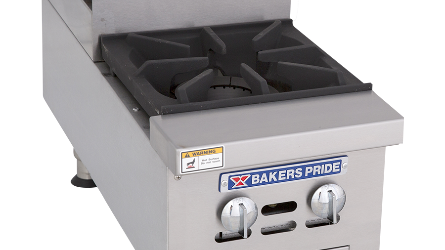 "Bakers Pride BPHHPS-212I Hotplate, gas, 12"", countertop, (1) 30,000 BTU open bur"