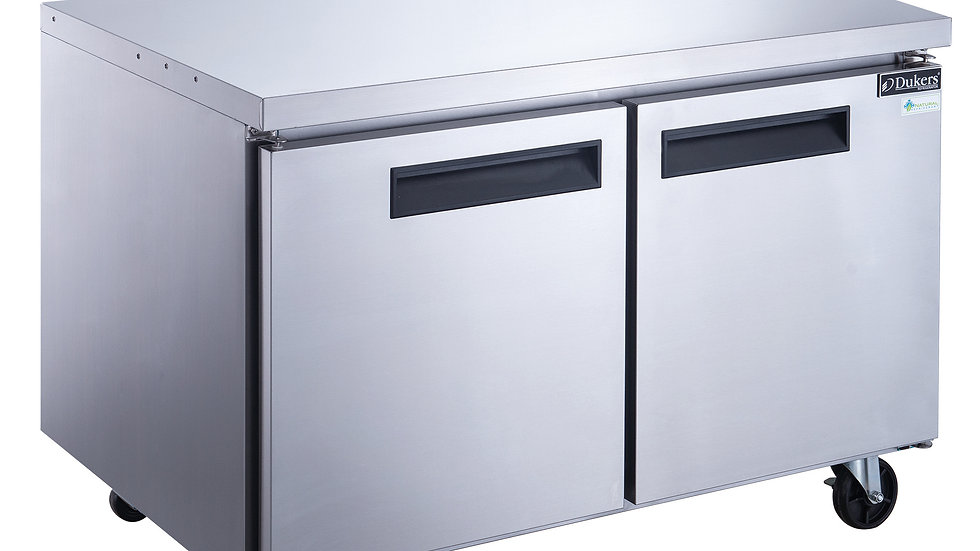 DUC48F 2-Door Undercounter Freezer in Stainless Steel
