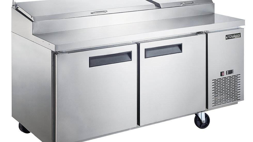 DPP70-9-S2 Commercial 2-Door Pizza Prep Table Refrigerator