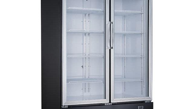DSM-41R Commercial Glass Swing 2-Door Merchandiser Refrigerator