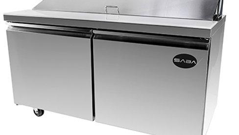 """SABA Two Door 60"""" Sandwich Prep Table"""
