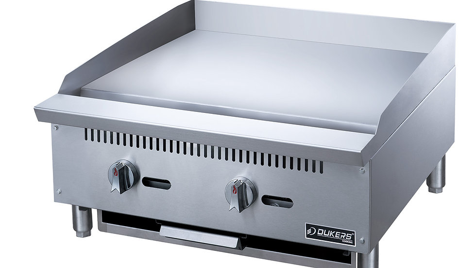 Dukers DCGMA24 24 in. W Griddle with 2 Burners