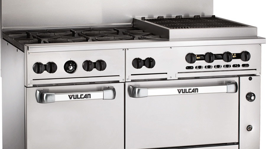 "Vulcan 60SS-6B24CBN Endurance Natural Gas 6 Burner 60"" Range with 24""Charbroiler"