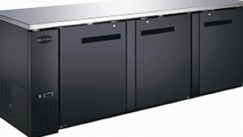 SBB-27-90B Three Door Back Bar Refrigerator