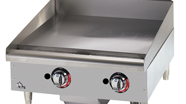 624-TF Star-Max 24'' Thermostatic Griddle, Gas 56,600 BTU