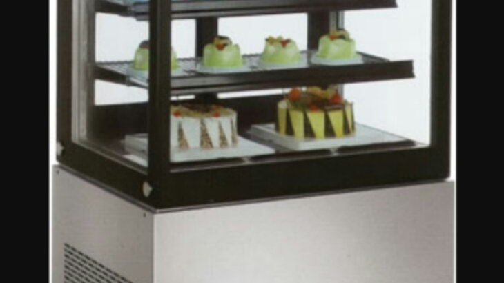 """48"""" Cubed Glass Floor Cold Bakery Refrigerated Case"""