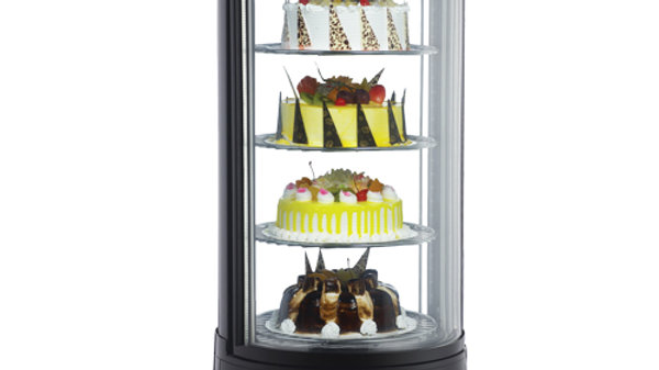 OMCAN RS-CN-0072-R Countertop Glass Refrigerated Display Case for Cakes & Pies!