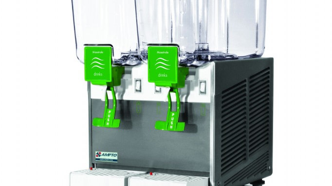 Cold Beverage Dispenser 2 Bowl