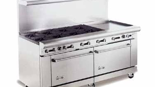 "American Range AR24G-8B 72"" Heavy Duty Restaurant Range with 24"" Griddle and 8 B"