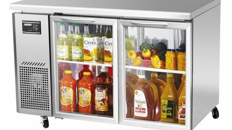 "JUR-48-G J Series Glass Door 48"" Undercounter Side Mount Refrigerator"