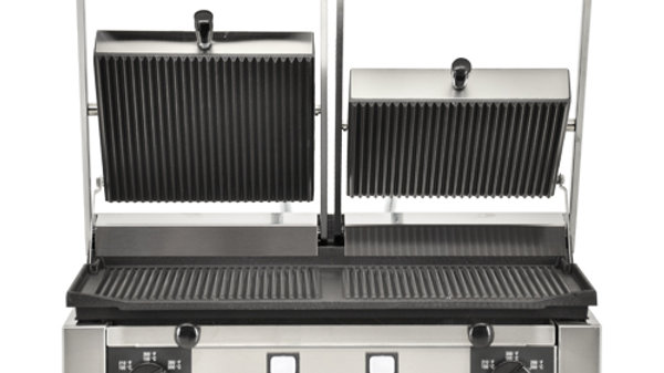 "Elite Series 10""x19"" Ribbed Sandwich Grill"