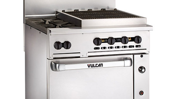 Vulcan 36S-2B24 Endurance Gas Range-Two Burners, Charbroiler and Oven