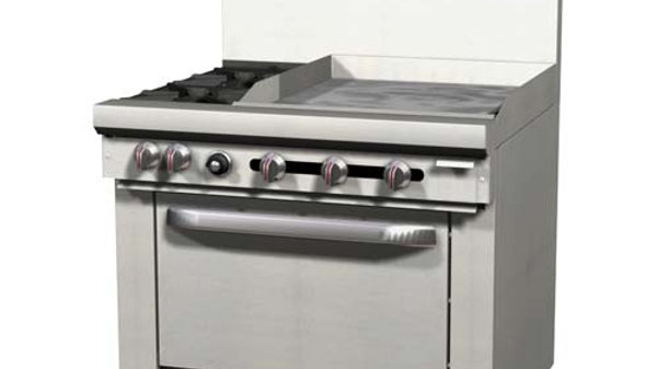 "S36D-2G Southbend S Series 2 Burner 24"" Griddle with Oven"