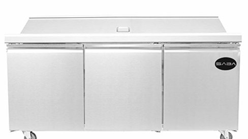 "SABA Mega Top 72"" Sandwich Prep Table"