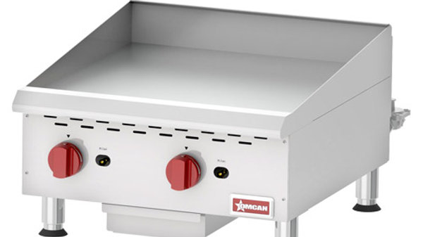 "24""Thermostatic Controlled Gas Griddle"