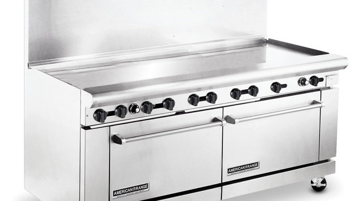 "AR72G  American Range72"" Gas Range with Griddle"