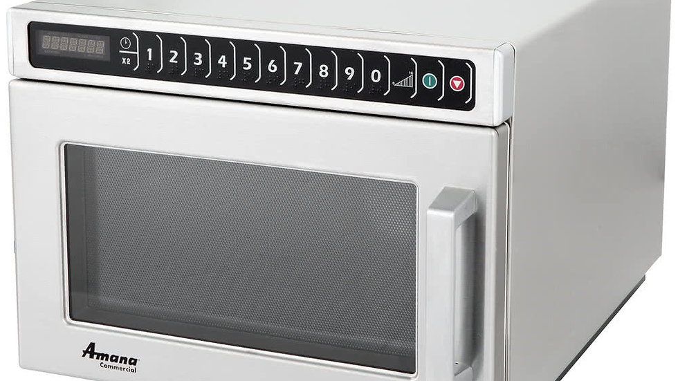 Amana HDC182 Heavy Duty Stainless Steel Commercial Microwave with Push Button