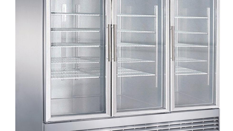 D83R-GS3 Bottom Mount Glass 3-Door Commercial Reach-in Refrigerator