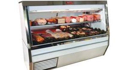 "48"" Howard McCray SC-CDS34N-4 4ft Narrow Depth Double Duty Deli Case - White"