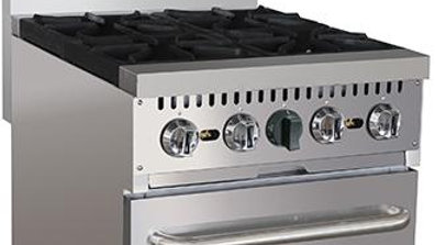 Black Diamond BDGR-24/NG 24in Gas Range w/4 Burners and Oven NG