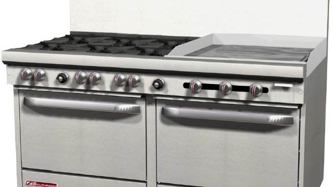 """S60DD-2G Southbend S-Series 6 Burner 24"""" Griddle 2 std Ovens"""