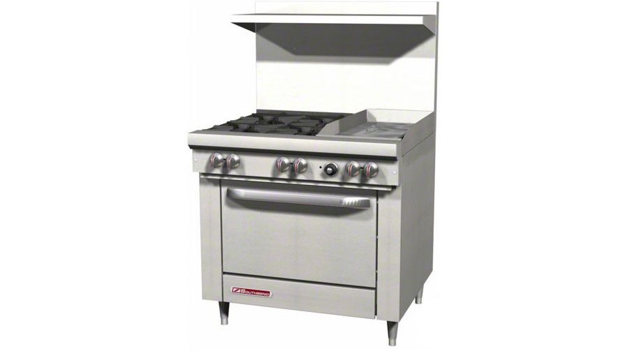 "S36D-1G Southbend S- Series 4 Burner 12"" Griddle with Oven"