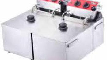 "Serv-Ware EF-06L-2 - Countertop Fryer, twin pots, 20-55/64""W, 1.5 gal. per basin"