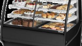 """True TDM-DZ-48-GE/GE-B-W 48.25"""" Full-Service Dual-Zone Bakery Case w/ Curved Gla"""