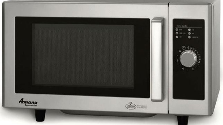 Amana RMS10DS 1,000 Watt Commercial Microwave Oven, Low Volume