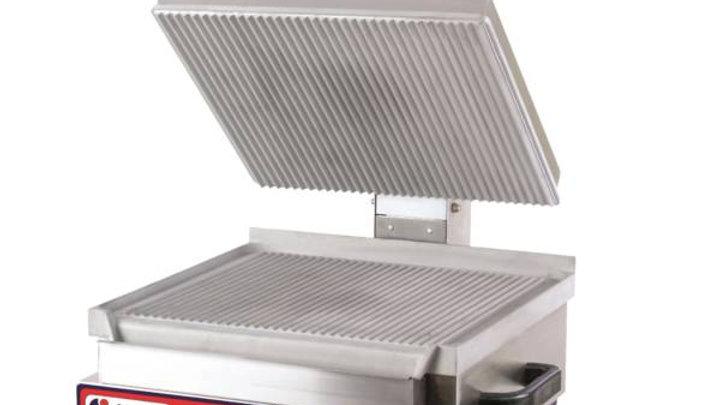 AMPTO Ribbed Electric Panini Grill SSGE
