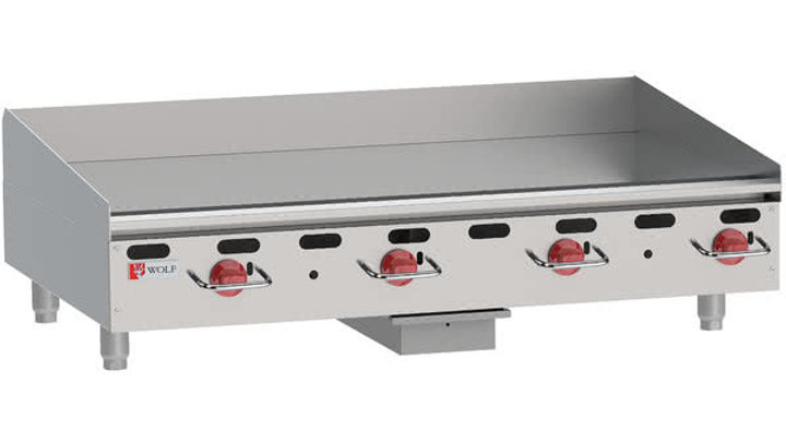 Wolf AGM48 Heavy-Duty Gas Countertop Griddle with Manual Controls - 108,000 BTU