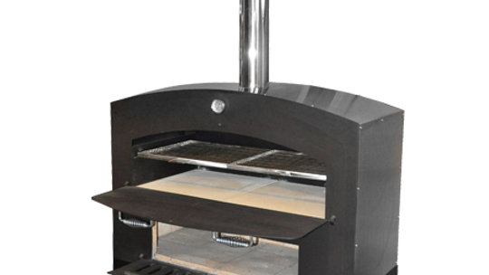 "OMCAN GX-DL LARGE WOOD BURNING OVEN W/ SHELF 46""W x 19""D x 72""H, steel interior"