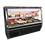 "Thumbnail: 72"" Howard McCray SC-CDS34N-6 6ft Narrow Depth Double Duty Deli Case - Whites"