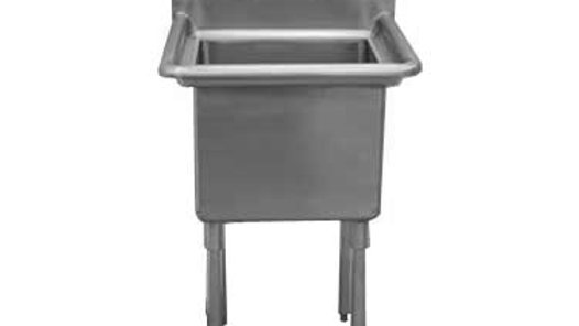 "Serv-Ware D1CWP1620 - 21"" Economy Sink, 1 compartment, 12 deep bowls"