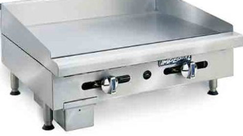 "IMGA-2428 24"" Imperial Commercial Gas Griddle Manual Flat Grill 3/4"" Plate"