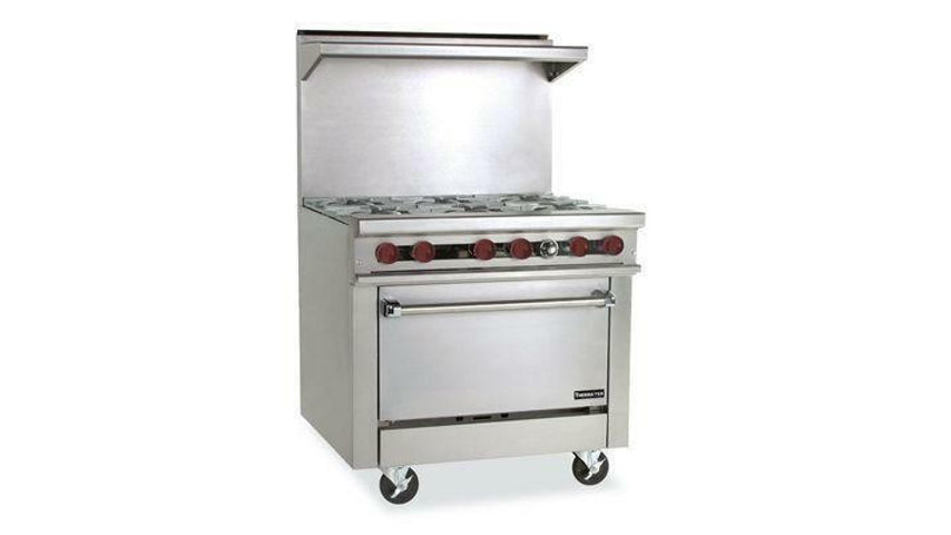 "6 Burner 36""HD Gas Range Therma-Tek TMDS36-6-1"