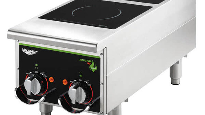 Vollrath 912HIMC Cayenne Dual Hob Heavy Duty Induction Hot Plate with Manual
