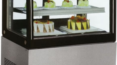"48"" Curved Cold Food Bakery Refrigerated Display Case"