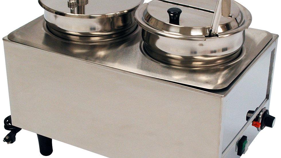 Benchmark-USA 51073P Dual Well Warmer 1 Pump, 1 Lid/Ladle