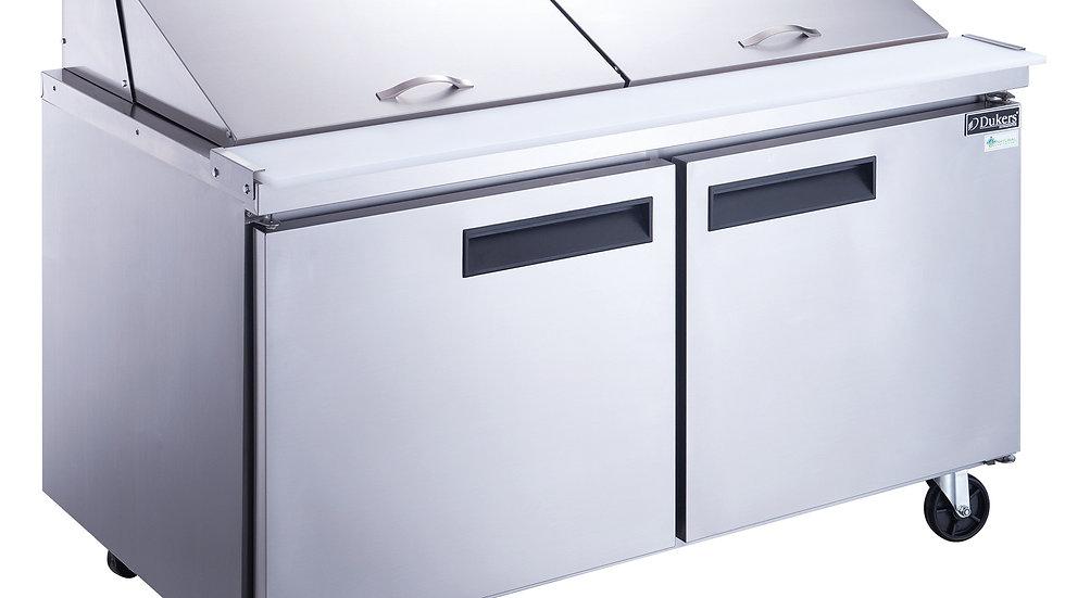 DSP60-24M-S2 2-Door Commercial Mega Top Food Prep Table Refrigerator